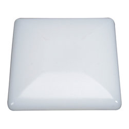 Kichler 2-Light Ceiling Fixture - White Utility - Two Light Ceiling Fixture The modern square shape of this energy efficient lighting flush mount ceiling light is softened thanks to the contemporary curves of each corner. A white acrylic diffuser with a matching white finish give it a clean but stylish look.