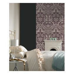 Graham & Brown - Desire Wallpaper - A popular large-scale damask design reworked in four stylish shades for the autumn/winter season.