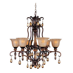 Maxim Lighting - Maxim Lighting 22265EMFL Dresden 6-Light Chandelier - Maxim Lighting 22265EMFL Dresden 6-Light Chandelier