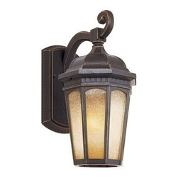 Trans Globe Lighting - Trans Globe Lighting Rustic Lodge Weathered Bronze Outdoor Wall Light - Weather resistant cast aluminum. Decorative wall bracket and lantern. Open at bottom for easy bulb replacement. Trans Globe Lighting is proud to be a leading manufacturer of residential lighting lamps and home decor since 1986. Born from the hopes and aspirations of two entrepreneurial spirits Trans Globe Lighting is a true testament to the American dream. Their company mission from the start was exceeding the industry standard in value style and selection. Today that mission remains stronger than ever.  In 2005 they expanded into a larger distribution facility in beautiful Valencia CA. This enables them to stock a steady on-hand inventory of over 3000 SKU's ranging from small outdoor porch lights to massive Bohemian crystal chandeliers. Features include Weather resistant cast aluminum Sturdy attachment to wall bracket and wall plate resists wind Open at bottom for directional light and easy bulb access 6 window light frame in glowing tea stain glass Tuscan Italian outdoor lighting collection for rich accent lighting. Specifications Finish: Weathered Bronze Material: Cast Aluminum Glass Bulb Type: Medium - E-26 - E-27 - Type A Number Of Bulbs: 1 Watt Per Bulb: 60 Wattage: 60 Bulbs Included: No Suitable For: Outdoor use Ul Listed: WET Energy Saving: No.