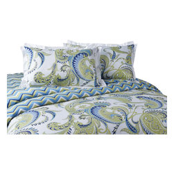 Jennifer Taylor Home - Plaza 3-Piece Duvet Set - Plaza 3 PCS Queen Duvet Set
