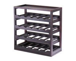 Winsome Wood - Winsome Wood Kingston Stackable Removable Tray 20 Bottle Wine Cube in Dark Espre - Stackable Removable Tray 20 Bottle Wine Cube in Dark Espresso belongs to Kingston Collection by Winsome Wood Storage is designed to stand alone or as a modular piece that is also stackable. This tray design holds 20 bottles is made of sturdy wood with espresso finish Wine Rack (1)