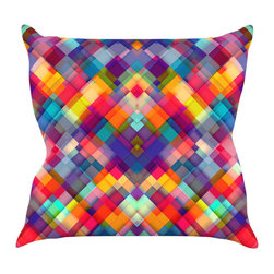 "Kess InHouse - Danny Ivan ""Squares Everywhere"" Rainbow Shapes Throw Pillow (16"" x 16"") - Rest among the art you love. Transform your hang out room into a hip gallery, that's also comfortable. With this pillow you can create an environment that reflects your unique style. It's amazing what a throw pillow can do to complete a room. (Kess InHouse is not responsible for pillow fighting that may occur as the result of creative stimulation)."