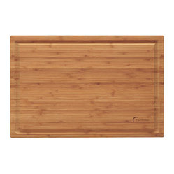 "Berghoff - Berghoff Professional Bamboo Chopping Block - Chopping board features a groove around the board to prevent juices from spilling off. Bamboo chopping boards are seeing a resurgence in popularity as they are considered a green product."" Caring for bamboo cutting boards is easy, just wash with soap and water. The natural beauty and durability is unique."
