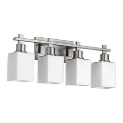 Quorum Lighting - Quorum Lighting QR-5098-4-65 Tate Transitional Bathroom Light - Quorum Lighting QR-5098-4-65 Tate Transitional Bathroom Light