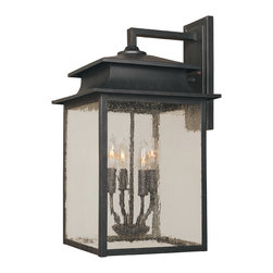 World Imports - World Imports Sutton Rust Outdoor Wall Sconce - World Imports 9105-42 Sutton Outdoor Wall Light in Rust