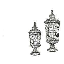 Cyan Design - Cyan Design 01630 Brocade Urns (Pack of 2) - Brocade Urns (Set of 2)