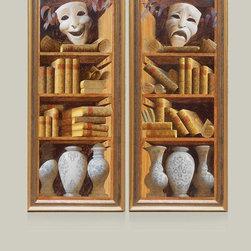 Russian Pavilion at Arttitud San Francisco. - Artist Sergey Konstantinov. Paintings Bookshelves.