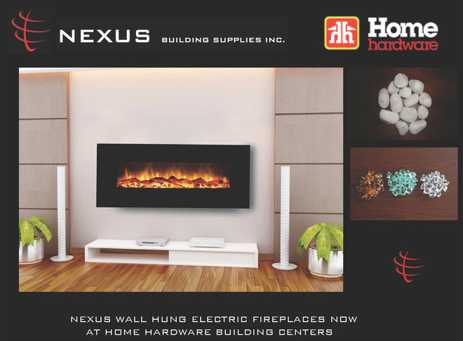 Contemporary Fireplaces by Nexus Building Supplies Inc.