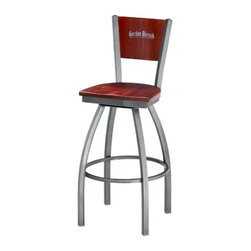 """Grand Rapids Chair - Melissa Anne Custom Back Swivel Barstool (Set of 2) - A tremendous variety of back options lets you achieve a distinctive look for your Melissa Anne Cross Back Side Chair. Perfect for a cafe, restaurant, or office, this chair will look great wherever you decide to put it. Match it with a barstool for a complete set. All Grand Rapids chairs and barstools are highly customizable, so be sure to check out all the options listed. Please call if you dont see anything that meets your needs, because there's a good chance that Grand Rapids can make any product suit your preferences. Features: -Metal chairs are manufactured from high quality plating grade steel-significantly stronger than the industry standard. -Hand tailored, coped and brazed joints to maximize strength and prevent rust. -Oven-baked epoxy/polyester finish. -Two inches of HR (High Resilience) foam, considered the Cadillac of cushioning. -Made in the USA. -Constructed for commercial/restaurant usage. -Premium carpet glides. Custom Options: -Seat Height  If you need a specific height that is not listed be sure to call. -Upholstery  Grand Rapids carries many fabric options, if you do not see anything to your liking or have your own fabric, please call and one of our customer service representatives will assist you with your order. -Metal Finish  33 Different metal finishes to choose from. -Seat Type Options  There are 75 available options for seat types. -CAL 133  If you need any of Grand Rapids chairs to meet California bulletin 133 please call. Specifications: -CAL 117 Standard. -Dimensions: 32.5"""" H x 17"""" W x 19"""" D. -Seat Dimensions: 18"""" H x 17"""" W x 19"""" D."""