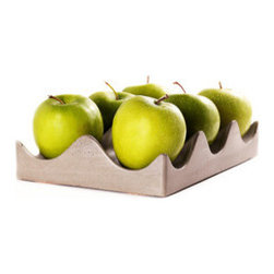 Handmade Hexi Fruit Bowl - After years of working on making the best form and material for his hexi bowls, this American maker has come up with the perfect mix design. Made from an advanced cement mix that uses small particulates, very little water, and reactive recycled pozzolans, the Handmade Hexi Fruit Bowl is strong, smooth, and tactile, with a texture more like ceramic or aluminum than like typical concrete. The hex casting lets you display fruits and kitchen items in a unique way, lending your pantry or tabletop loads of handmade character. The gray piece will have sight variations in color and texture, and will only get better with age as it develops patina.