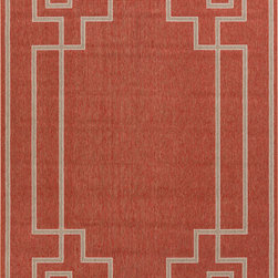 "Surya - Surya Alfresco ALF-9631 (Brick, Taupe) 7'6"" x 10'9"" Rug - The beautiful rugs in the Alfresco Collection can be used on the porch, deck, and patio or hose them down and use them in your kitchen, sunroom, or bathroom! This versatile collection offers rugs that are stain, humidity, and UV ray resistant. Complement your home dEcor with the beauty of Alfresco rugs that flow smoothly with your lifestyle. -100% Polypropylene -Outdoor -Made in Egypt"