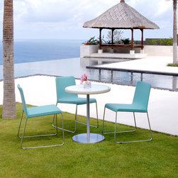 Lebello - Sun Set -  Outdoor Stacking Chair / Dining Chairs - Sun Set by Lebello is a versatile modern outdoor stacking chair. Built strong in stainless steel frame and legs.