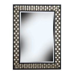 Kenroy - Kenroy 60013 Checker Wall Mirror - Woven bands of Silver are accented in Black to create a versatile design that will look great in any decor.