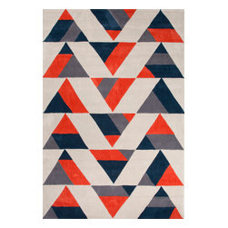 Jaipur Rugs - Hand-Tufted Geometric Pattern Polyester Red/Black Area Rug ( 7.6x9.6 ) - Style and value strike a perfect balance in Fusion, one of Jaipur's popular collections of contemporary hand-tufted rugs. This spirited series is guaranteed to make a statement in any room, with unexpected color combinations and attention-grabbing patterns. The Fusion Collection proves that fashion-forward doesn't have to carry an expensive price tag.