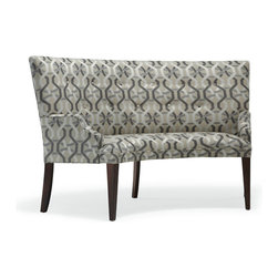 Mitchell Gold + Bob Williams - Finley Banquette - Dining banquette made for two. Place a pair around one of our round tables or mix with upholstered dining chairs. Looks great in many Mitchell Gold + Bob Williams fabrics and leathers