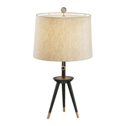 Jonathan Adler Ventana Tripod Table Lamp - %The Jonathan Adler Ventana Tripod Table Lamp by Robert Abbey adds an elegant and decorative touch to your room with this graceful yet eye catching tripod table lamp featuring a tripod frame with natural linen shade and rolled edge hem.