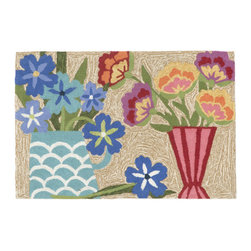 """Trans-Ocean - Still Life Multi Rugs 1498/44 - 24""""X36"""" - Richly blended colors add vitality and sophistication to playful novelty designs.Lightweight loosely tufted Indoor Outdoor rugs made of synthetic materials in China and UV stabilized to resist fading.These whimsical rugs are sure to liven up any indoor or outdoor space, and their easy care and durability make them ideal for kitchens, bathrooms, and porches."""