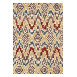 Loloi Rugs - Loloi Rugs Leyda Ivory-Light Gold Transitional Hand Tufted Rug X-0BA7DLVI50-YLDY - Transform your home into a designer haven with the chic Leyda Collection of Ikat patterns. Whether you are looking for an interior that is soft and subtle or bold and dramatic, the Leyda Collection has an option to fit your personal style. Hand-tufted in India of 100-percent wool, these striking rugs come in up-to-date blue, ivory/multi, black/light gold, red/multi, midnight, cream/gray, ivory, light gold and gray/denim. Leyda is the makeover you have been dreaming about.