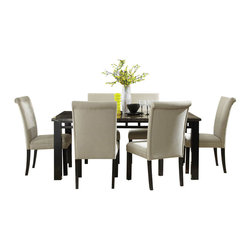 Standard Furniture - Standard Furniture Gateway Grey 7-Piece Dining Room Set with Parsons Chairs - Impressive proportions and bold styling give Gateway Dining a dynamic contemporary personality.