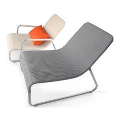 Sunny Lounge by Lebello - Sunny by Lebello is an outdoor lounger available with arms and an optional foot stool or side table. Seat cushions are available with Sunbrella fabric and Quick Dry foam inserts. Suitable for contract projects. Designed by Lebello, 2007