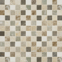 marblesystems - Chara Honed Limestone Mosaics - Natural limestone mosaic tile that can be used on floors and walls. Made in Turkey.