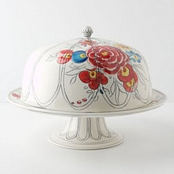 Molly Hatch - Peony Portrait Domed Cake Stand - *By Molly Hatch