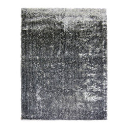 Icustomrug Priscilla Shag Rug Shiny Black And White 9