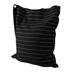 Powell Anywhere Lounger Bean Bag - Wide Pin Stripe - Tired of bean bags? Try out the Powell Anywhere Lounger Bean Bag. Contoured for exceptional comfort, this lounger is a perfect alternative to bean bags. Durably crafted, this lounger can stand up to sitting, lounging, and even jumping. Beyond lounging, this is a multi-functional piece that can be used as a chair, pillow, or even as a bed. A large grommet allows you to easily toss the lounger around or hang it on the wall for out-of the-way storage.More About Powell FurnitureBased in Culver City, Calif., the Powell company designs, imports, and distributes occasional, dining, accent, and youth furniture across all style categories. Since 1968, Powell has grown to become one of the most recognized names in the home furniture industry. From sturdy, safe childrens furniture to elegant bedroom and other home collections, Powell continues to develop new and exciting designs for homes around the globe.
