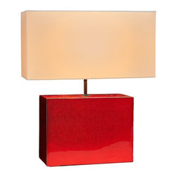 Natural Design House - Metallic Table Lamp - For a bold and rich lighting accent that looks stunning with contemporary home decor, metallic table lamps are the perfect match, You'll feel like a million bucks with the Red color lamps in your home, but the cost of this great style won't break your bank. Perfect for use as bedside lamps, these metallic lamps could essentially be used in just about every room in the home and office.