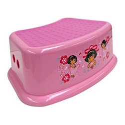 Ginsey - Ginsey Dora the Explorer Step Stool - This charming step stool will ease your child into taking that first big step to the toilet. Step stool is sturdy plastic with a thick rubber mat surface on the step to prevent slipping.