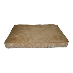 Loom and Mill - Loom and Mill DB0016 Brown Corduroy Rectangle Pet Bed - Help your pet get extra cozy in this over-stuffed large dog bed. Made with the highest of quality fabric, this pet bed is velvety soft and over-stuffed for extra comfort. Your large pet will love this fabulous animal bed. Spot clean only.