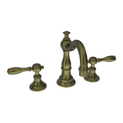 """Newport Brass - Newport Brass 1770 Victoria Double Handle Widespread Lavatory Faucet - Victoria Double Handle Low Lead Widespread Lavatory Faucet with Metal Lever HandlesThe Newport Brass Victoria Collection features traditional artistry which fits in to any home. This classically themed faucet collection will bring a classic beauty to any home. Newport Brass lavatory faucets are available in several different styles with 25 unique finish options. Every Newport Brass bathroom faucet is CA/VT low lead compliant and WaterSense certified. Solid brass construction and ceramic disc cartridges ensure that your Newport Brass bath faucet will last the test of time. You will see why Newport Brass boasts Flawless Beauty from Faucet to FinishFeatures:Double handle lavatory faucetADA compliant lever handlesBrass Valve Bodies. Valve Included.Quarter-turn washerless ceramic disc valve cartridgesPop-up drain with tail pieceCA/VT Low lead compliantWaterSense CertifiedSolid brassReadyship Available Finishes - Finishes guaranteed to be in stock by Newport BrassEnglish BronzeAntique NickelOil Rubbed BronzePolished NickelSatin NickelPolished ChromeFinish Features:Available in 25 beautiful finishesNew Industry Leading lacquer Finish ProcessIAPMO Certified and testedLong Life Finishes - 10 Year WarrantyDurable, color protected, scratch resistantGreen, low VOC, energy efficient finishing processSpecifications:Spout Reach: 6-3/16""""Spout Height: 4-3/16""""Overall Height: 7-3/8""""Handle Height: 3-7/16""""8"""" CentersLow Lead Compliant : YesWaterSense Certified : YesCenters : 8""""Material : Solid Brass1/2"""" valves"""