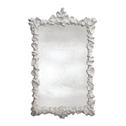 """Klemm Mirror - Large - %The Large Klemm Mirror by Oly presents a stunning design combining sleek contemporary glamour and enticing function. The Klemm Mirror is a delightful approach to """"mirror, mirror on the wall"""" with its' striking cast resin form with antiqued mirror, that will liven up your decor. Blending the traditional with the modern, Oly provides a style that works well in a wide range of environments."""