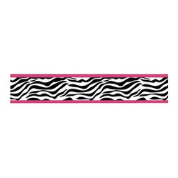 """Sweet Jojo Designs - Pink Zebra Wall Paper Border (15' x 6"""") - Unleash your inner wild child with a wallpaper border that is unmistakably wild and free. Surrounded by a pop of color, the zebra print gets a modern twist while still adding a natural element. Visually stimulating, it's as freeing as an African safari."""