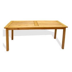 Haste Garden - Iris Rectangle Table With Solid Top - Robinia wood is resistant to decay. All of the wood used in our furniture is sourced from Europe and is 100% FSC certificated. - Made in Poland. - Ships knocked down with easy assembly.