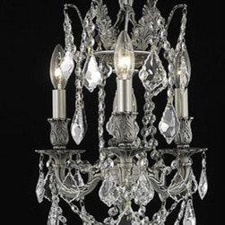 Elegant Lighting - Elegant Lighting 9203D13PW/EC Rosalia 3 Light Pendants in Pewter - 9203 Rosalia Collection Hanging Fixture D13in H18in Lt:3 Pewter Finish (Elegant Cut Crystals)