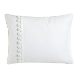 "Charisma - Pillow with Buttons 12"" x 16"" - CharismaPillow with Buttons 12"" x 16""Designer About Charisma:Charisma linens are known for an understated elegance with attention to detail and quality workmanship. The Charisma collection includes fine bedding and towels crafted from luxurious fabrics such as Egyptian cotton and Supima cotton for a truly soft touch that endures."