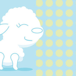 Murals Your Way - Lulubelle The Lamb Wall Art - Painted by Simon & Kabuki, the Lulubelle the Lamb wall mural from Murals Your Way will add a distinctive touch to any room