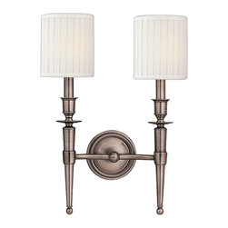Hudson Valley Lighting - Hudson Valley Lighting 4902-AN Abington 2 Light Wall Sconces in Antique Nickel - This 2 light Wall Sconce from the Abington collection by Hudson Valley Lighting will enhance your home with a perfect mix of form and function. The features include a Antique Nickel finish applied by experts. This item qualifies for free shipping!