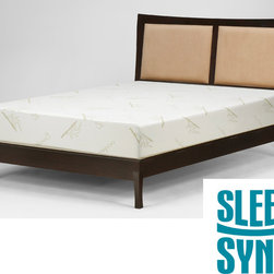 Sleep Sync - Sleep Sync 12-inch Cal King-size Memory Foam Mattress - Give yourself a good night's rest on this comfortable king-size memory foam from Sleep Sync. This 12-inch mattress works to improve circulation while reducing pressure points that can often disrupt your sleep. It is made of 100 percent rayon.