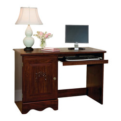 Standard Furniture - Standard Furniture Jaqueline 47 Inch Student Desk in Cherry - Inspired by fairytales every princess dreams of, Jaqueline features a traditional look with a traditional design and attention to detail. Beautifully coordinated knob and bail pull hardware make opening and closing drawers an easy task. Wood products with simulated wood grain laminates. Group may contain some plastic parts. French dovetail. Roller side drawer guides. Pull and knob in simulated Spanish reg. finish. Zinfindale cherry color finish. Surfaces clean easily with a soft cloth.