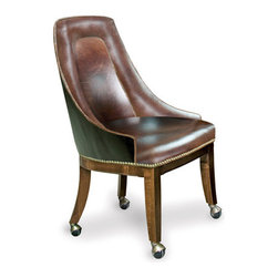 California House - lindgren chair w/ casters (leather) - Manufactured in the USA, we are proud to offer our customers this premium game room furniture from a third generation, family-owned company.