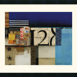 Amanti Art - Silent Sea Framed Print by Thomas McCoy - This bold abstract by Thomas McCoy is a natural for your favorite modern space. A striking melange of textures and shapes, it sparks the imagination while accenting the blues in your decor.