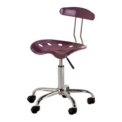 Ace Bayou - Ace Bayou Tractor Seat Task Chair in Purple - Tractor Seat Task Chair in Purple by Ace Bayou.