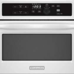 KitchenAid - KBMS1454B Architect Series II 1.4 cu. ft. Capacity Built-In Microwave Oven With - This 24-inch built-in microwave packs powerful performance into the space of a standard cabinet cutout You39ll get a range of pre-programmed and sensor cycles that help make the microwave exceptionally easy to use Trim kits are included that allow yo...