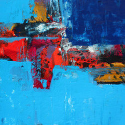 New Beginning (Original) by Craig Moser - This is a bold, original abstract created in 2014 by TX artist Craig Moser. The piece comes with a signed certificate of originality.