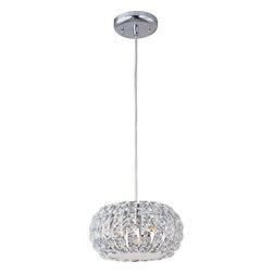 ET2 Lighting - ET2 Lighting E21803-20PC Crystal Pendant Light in Polished Chrome - ET2 Lighting E21803-20PC Crystal Pendant Light In Polished Chrome