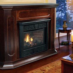 Majestic Chesapeake Series 53'' x 44'' Vent Free Gas Fireplace - The Chesapeake fireplace gives you the total package. With firebox, log set and your choice of cabinet included, you get everything you need to add an elegant touch to your space. Convenient vent free design makes installation simple.