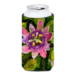 Caroline's Treasures - Flower - Passion Flower Tall Boy Koozie Hugger - Flower - Passion Flower Tall Boy Koozie Hugger Fits 22 oz. to 24 oz. cans or pint bottles. Great collapsible koozie for Energy Drinks or large Iced Tea beverages. Great to keep track of your beverage and add a bit of flair to a gathering. Match with one of the insulated coolers or coasters for a nice gift pack. Wash the hugger in your dishwasher or clothes washer. Design will not come off.